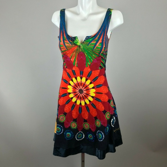Desigual Dresses & Skirts - Desiqual Multicolor Floral Starburst Sequin Dress